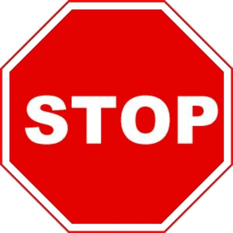 CARTOON IMAGES, ART INSERTS » stop sign